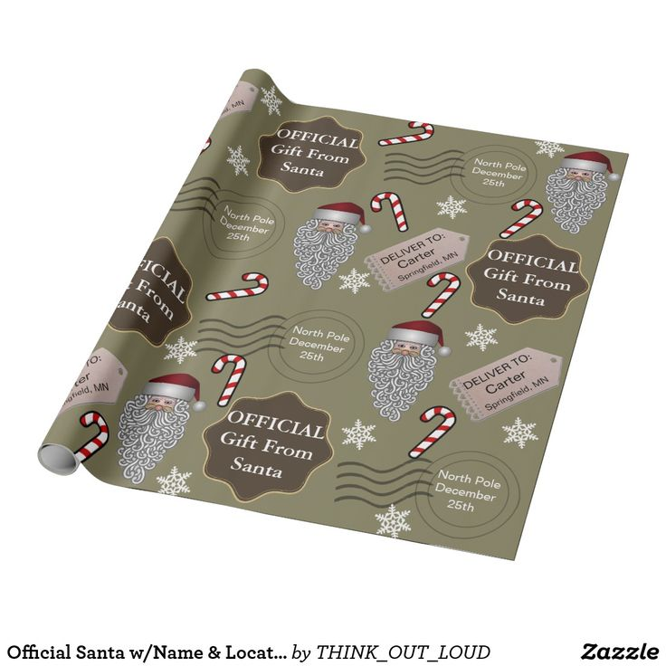 Official Santa w/Name & Location Wrapping Paper