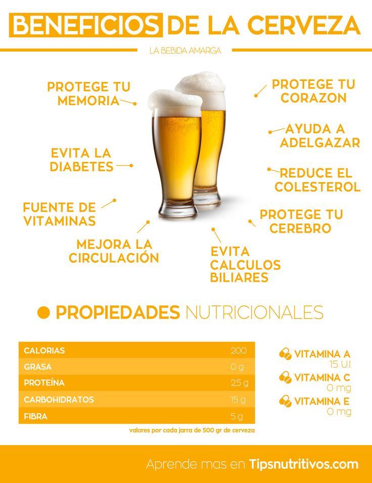 infografia de los beneficios de la cerveza                                                                                                                                                                                 Más