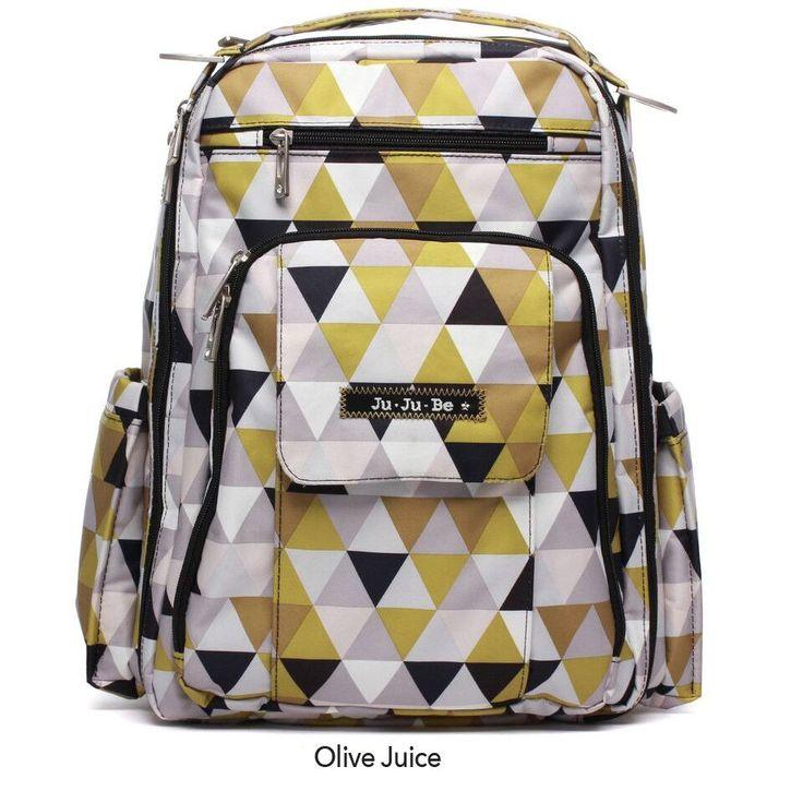 JuJuBe Be Right Back Backpack Diaper Bag - Olive Juice