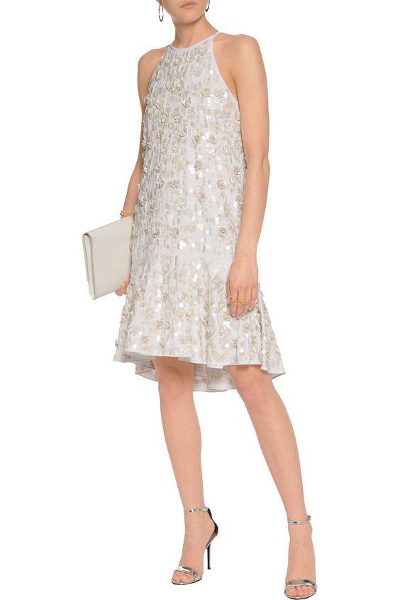 317397069f0 Shop on-sale Diane von Furstenberg Kera sequin-embellished crepe mini dress.  Browse other discount designer Dresses   more on The Most Fashionable  Fashion ...