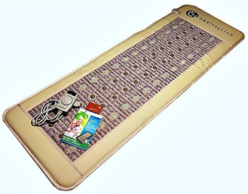 Sauna Floor Mat Pad 6 Feet L FAR Infrared Healing Heat Jade Tourmaline and Amethyst Therapy Stones Manage Back Pain Arthritis Depression Stress Wired Remote Control FullMat011AJT * To view further for this item, visit the image link.