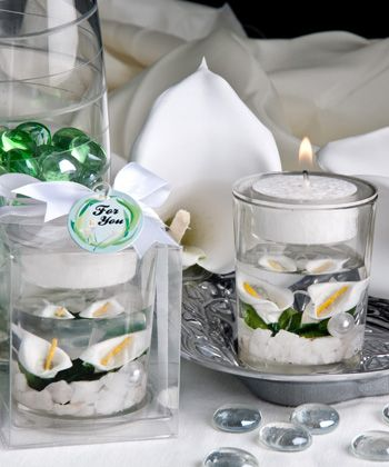 Calla Lily Candle Favor