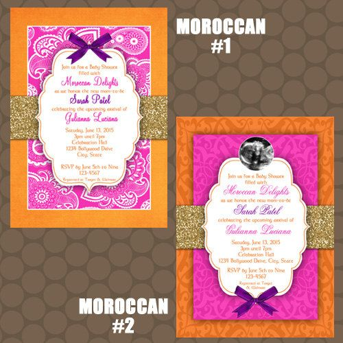 Moroccan Baby Shower Invitations and Signs Printable ...