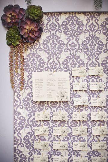 大好きなカラーとお花で♪ <パープル・ロマンチックな結婚式エスコートカード・席札まとめ一覧>