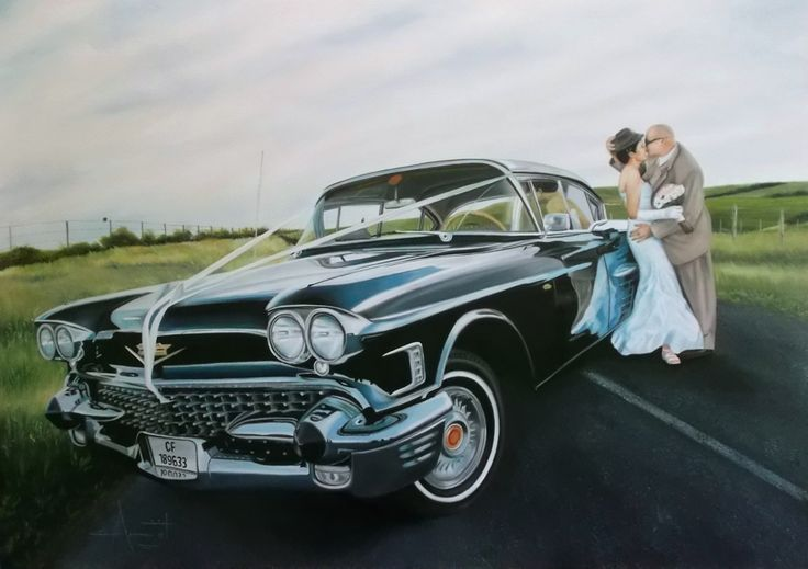 Wedding photo commission Oil on canvas SOLD