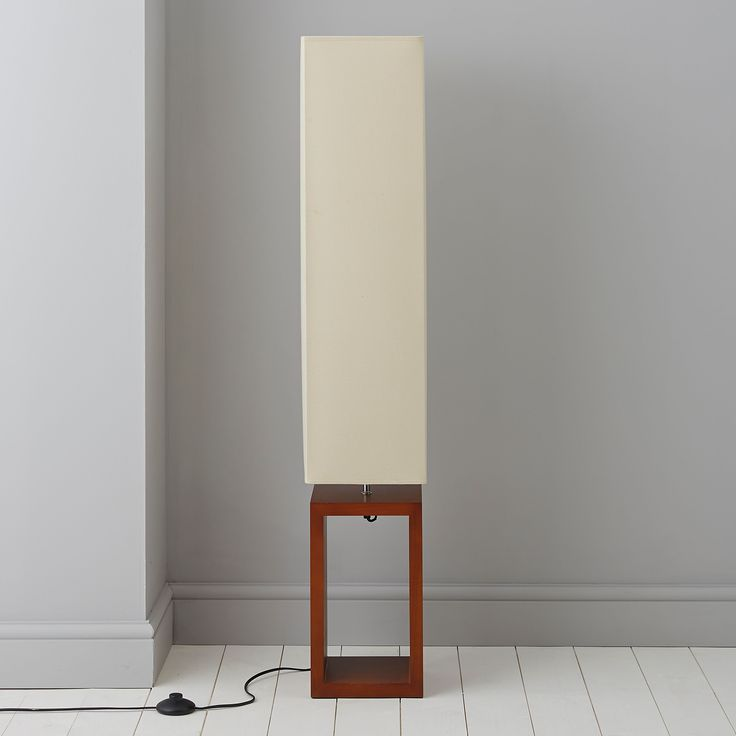 Cargo Dark Brown Cream Floor Lamp