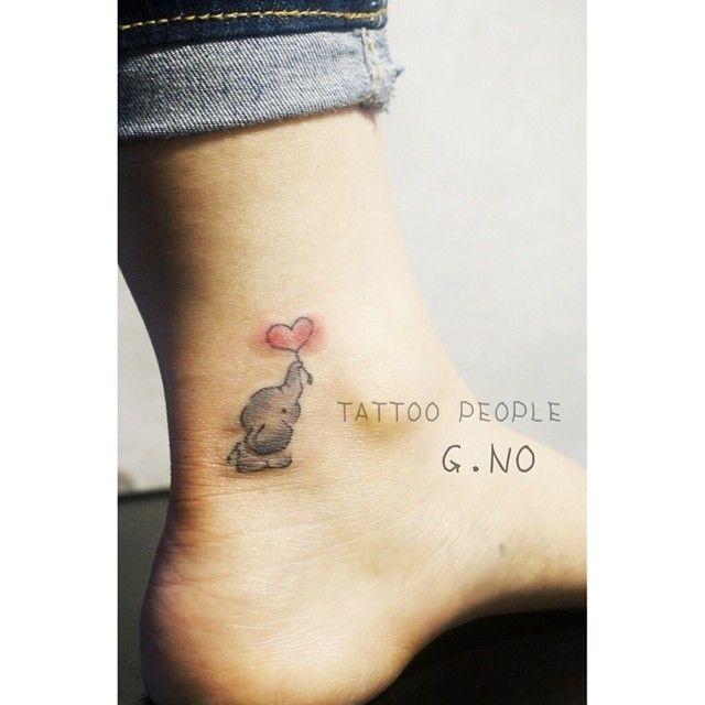 나랑 쪼큼 다른 좀 더 귀여운 코끼리 완전 앙증맞구나요 ! #tattoo…