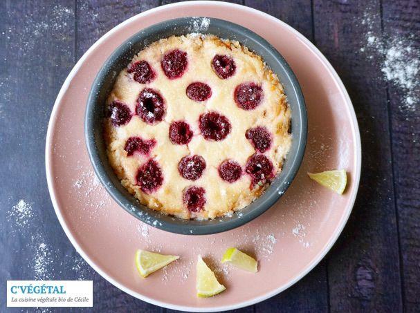 Crèmes cuites au citron vert et framboises // Baked lime custards with raspberries