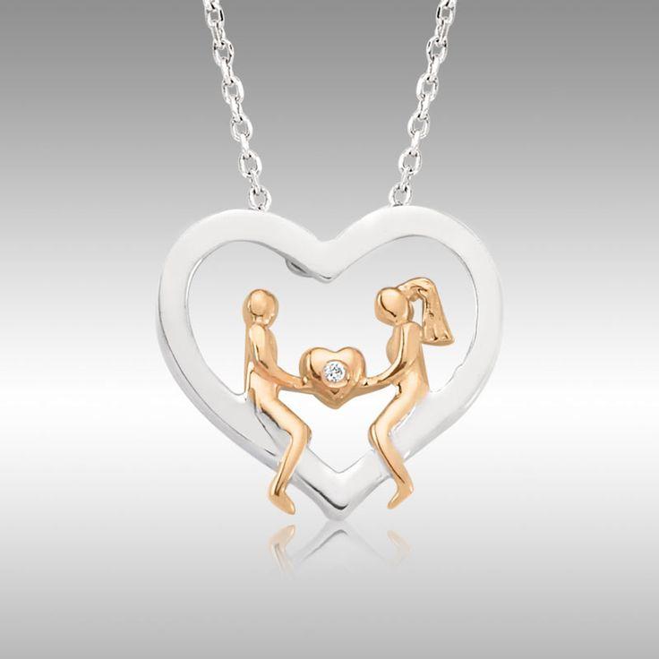 Sevgililer Günü Özel - Kalp Tutan Aşıklar Pırlanta Kolye - Tektaş Yüzük hediyeli :: sanaldunyaavm