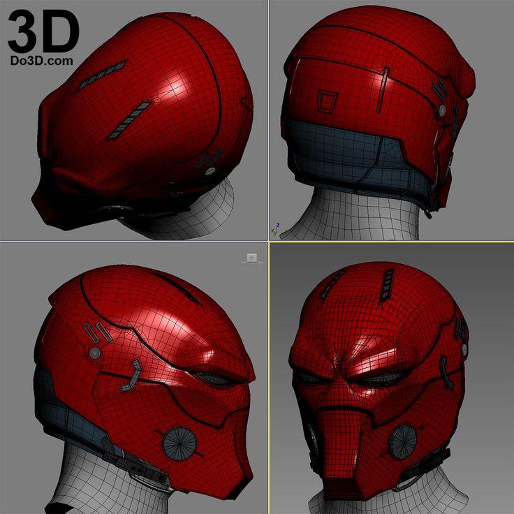 3D Printable Model: Red Hood Variant Helmet Concept | Print File Format: STL – Do3D.com