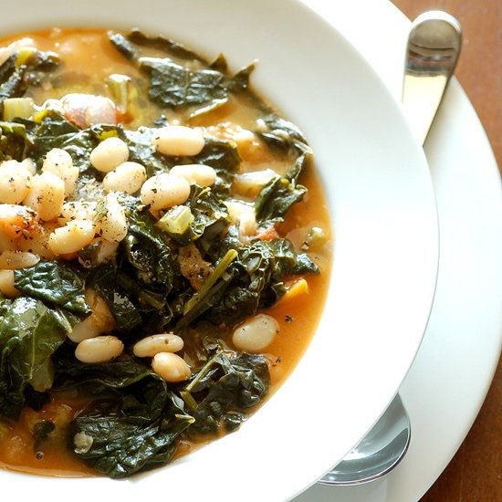 savory kale, cannellini bean, and potato soup. perfect for fall! | Fit Sugar @Boonschotzbeads i think you would love this