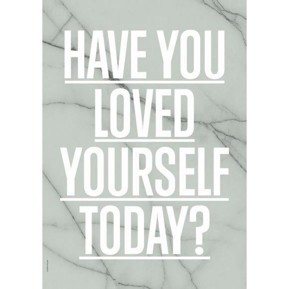 I LOVE MY TYPE Poster Loved Yourself A3 - Green