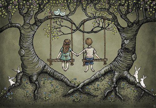 Tree swing tattoo google search my best friend for Love making swing
