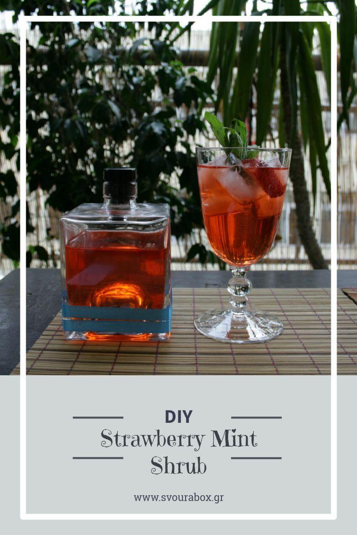 Strawberry Mint Shrub