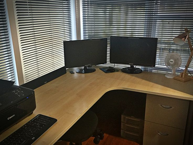 Clean office desk space