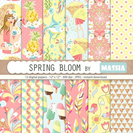 #Spring Bloom #Digital #Papers - http://luvly.co/items/5340/Spring-Bloom-Digital-Papers