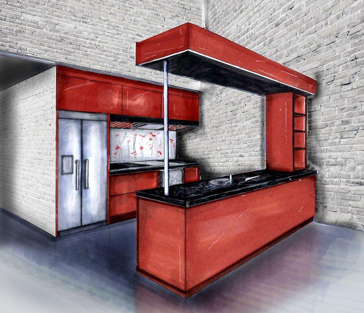 "Furniture Design Rmit interior design and decoration/ maria ronzhina ""kitchen for"
