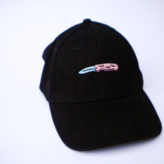 DadCap color negro, Navaja bordada Filtro UV