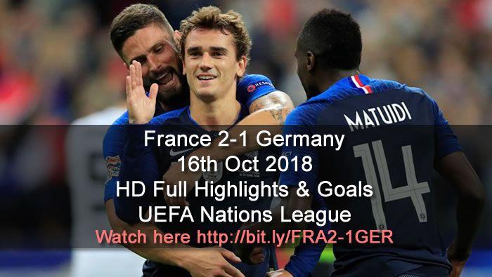 France 2 1 Germany Full Highlights Goals Highlights