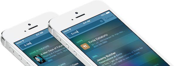 iOS 8 ile Spotlight arama artık daha akıllı