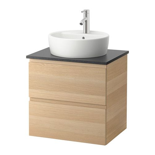 GODMORGON/ALDERN / TÖRNVIKEN Kast met wastafel 45 v bovenblad IKEA Gratis 10 jaar garantie. Raadpleeg onze folder voor de garantievoorwaarden.