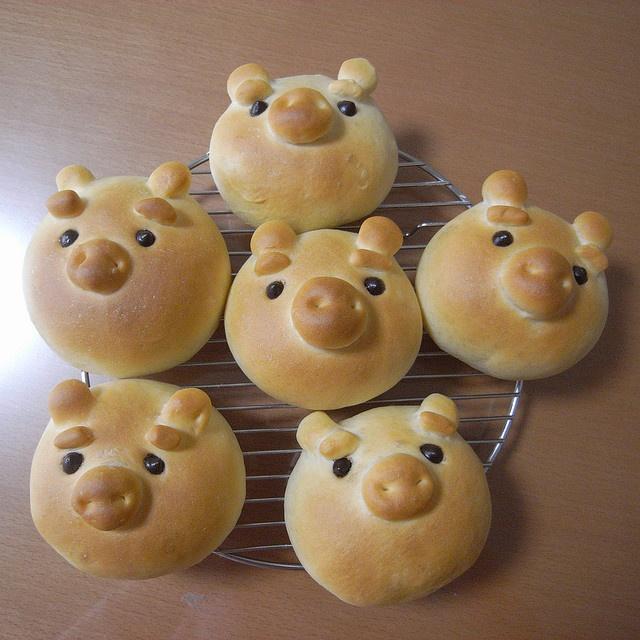 Pig bread #cute #food #pig