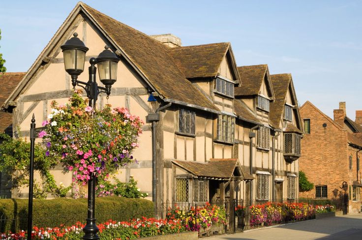 William Shakespeare's birth place in Stratford upon Avon. Literally right next to where my house is gonna be!