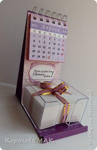 Поделка изделие 8 марта День рождения День учителя Начало учебного года Новый год Настольный календарь с блоком для записей Бумага Картон фото 1