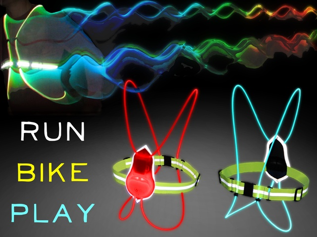 Fiber Optic Athletic Gear: Revolutionizing Sports and Safety by noxgear, via Kickstarter.  Experience the excitement of night sports and stay visible while running or cycling at night with our multicolored illuminated vests