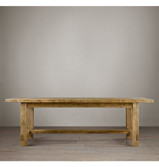 Salvaged Wood Farmhouse Rectangular Extension Dining Table Dining Room