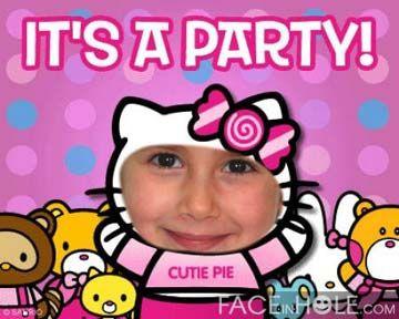 Fotoefectos infantiles para fiestas.