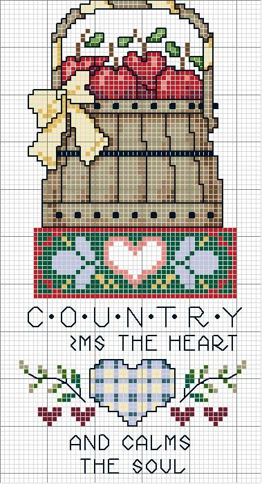 Schema punto croce Quadro Country 10
