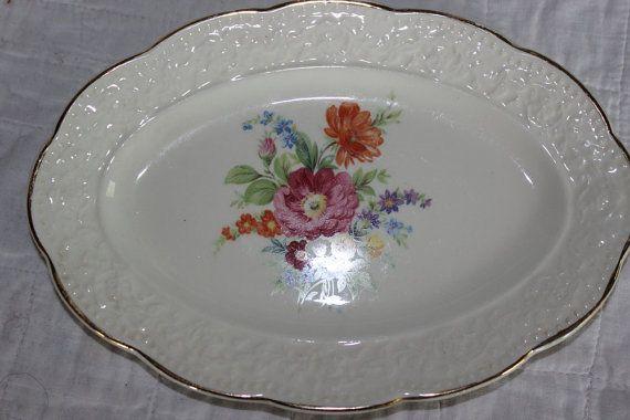 Knowles Serving Platter Relish Dish Floral by AmeliesFarmhouse, $7.00