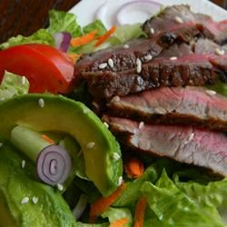 Grilled Steak Salad with Asian Dressing - Allrecipes.com