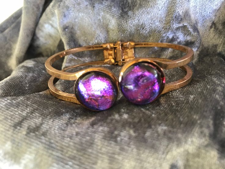 Pretty purple dichroic bangle