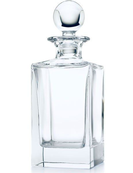 Classic Square crystal decanter by Tiffany & Co., $150; tiffany.com
