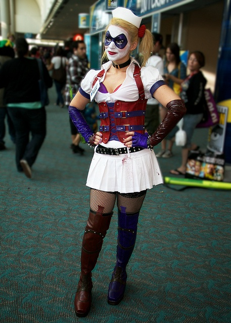 Harley quinn arkham asylum cosplay
