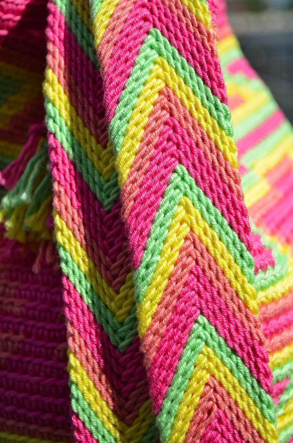 Chevron pattern ply split, Mochila bag crochet pattern, LeafsCreations