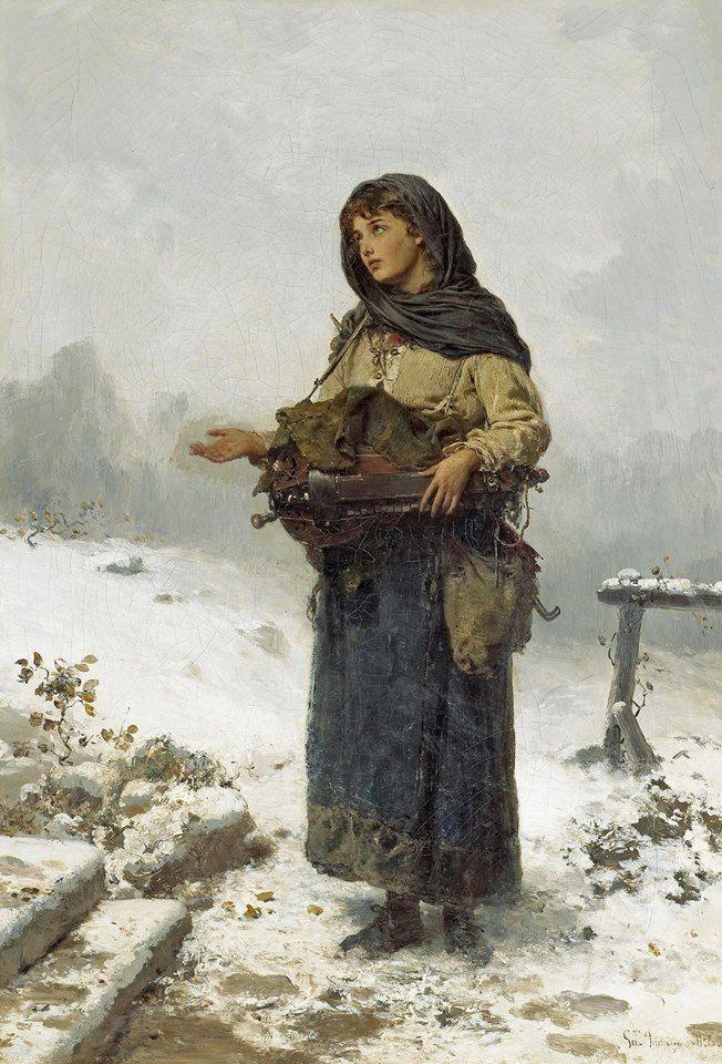German School, 19th Century ~ The beggar maid