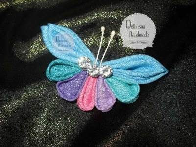 I really love this color, Lovely Dream Butterfly Brooch From Delhusna Handmade.  IDR 50.000