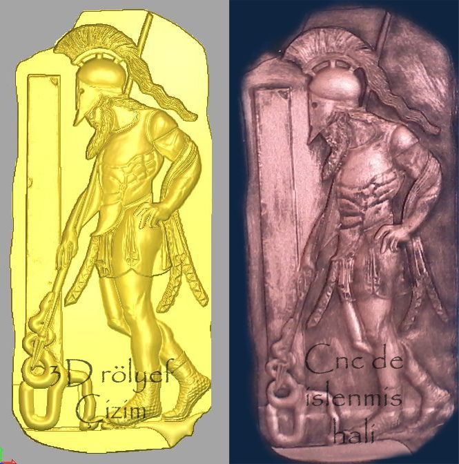 Greek Warrior Stela relief design