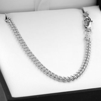45cm Sterling Silver Round Curb Chain Necklace - SN-C80