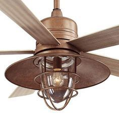 The 25 best rustic ceiling fans ideas on pinterest ceiling fan indooroutdoor rustic copper ceiling fan with light kit and remote control mozeypictures Gallery