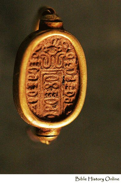 Scarab ring seal, ancient Egypt.