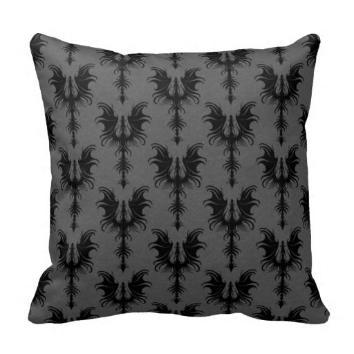 Black Gothic Dragons on Grey Pattern Throw Pillows so please read the important details before your purchasing anyway here is the best buyHow to          	Black Gothic Dragons on Grey Pattern Throw Pillows Here a great deal...