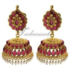 Image result for gold jewellery earrings jhumka