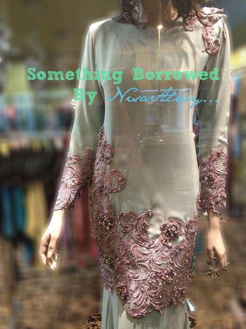 prada lace baju kurung moden - Google Search