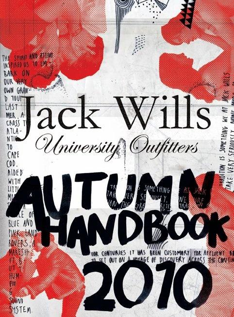 #JackWills Autumn 2010 handbook - we love the contrasting red on gray