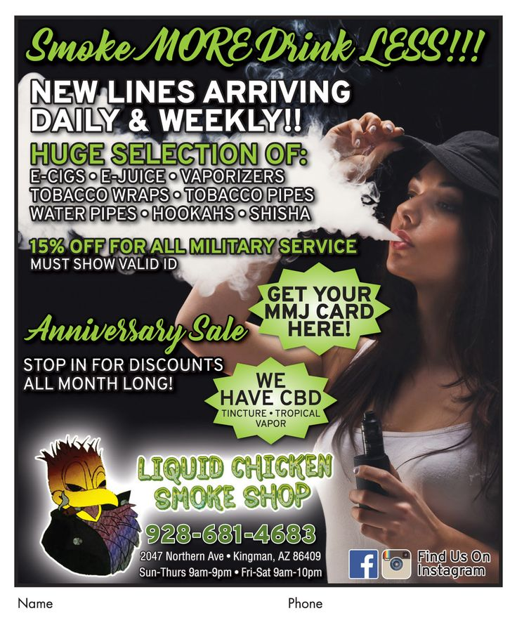 Help celebrate #LiquidChickenSmokeShop's anniversary with some smokin' discounts.  #adspay #smokeshop #ecigs #ejuice #vapes #tobacco #papers #hookahs #cbd #mmjcards #kgm