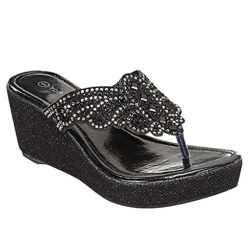 New Women Flip Flops Platform Thong Sandals Fashion Colors Wedge Heel Shoes SNJ SHOES * Want additional info? Click on the image.